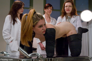 Three nurses humiliating the fourth victim and making her do girls pissing - XXXonXXX - Pic 6