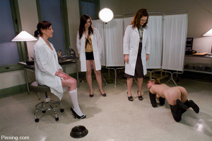 Three nurses humiliating the fourth victim and making her do girls pissing - XXXonXXX - Pic 14