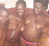Happy and contended with their ebony porn titties and desire to have it