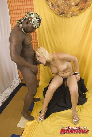 Heavy breasts blonde shemale slowly stri - XXX Dessert - Picture 9