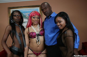 Hot young black hoes fuck there pimp! - XXX Dessert - Picture 1