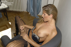 Awesome woman Jennifer in black underwea - XXX Dessert - Picture 7