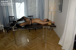 Awesome woman Jennifer in black underwea - XXX Dessert - Picture 9