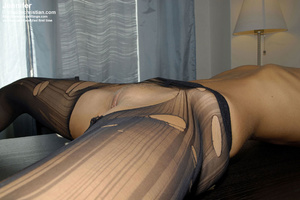 Awesome woman Jennifer in black underwea - XXX Dessert - Picture 18