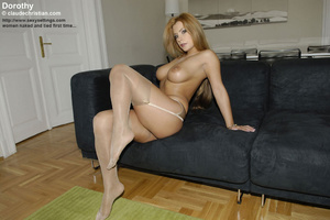 Gorgeous big boobed in sexy stockings an - XXX Dessert - Picture 1