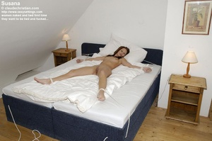 All naked babe Susanna tied legs spread  - XXX Dessert - Picture 2