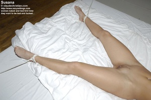 All naked babe Susanna tied legs spread  - XXX Dessert - Picture 16