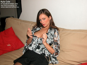Fantastic Kyla in crotchless pantyhose g - XXX Dessert - Picture 2