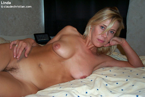 Married woman Linda taking off her blue  - XXX Dessert - Picture 6