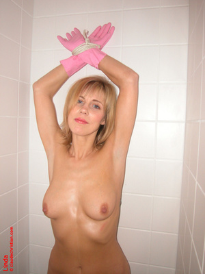 Married woman Linda taking off her blue  - XXX Dessert - Picture 16