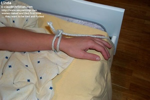 Horny blonde girl Linda gets tied spread - XXX Dessert - Picture 2
