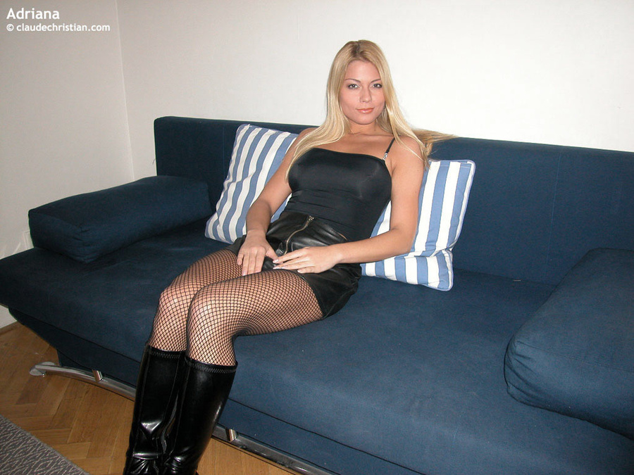 Skirt milf blowjob leather