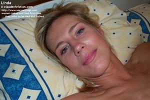 Horny blonde girl Linda gets tied spread - XXX Dessert - Picture 17