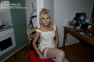 Stunning blonde Zuzana bent over the cha - XXX Dessert - Picture 3