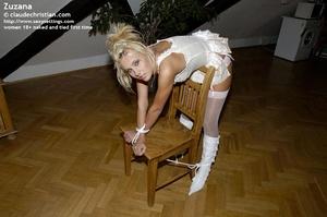 Stunning blonde Zuzana bent over the cha - XXX Dessert - Picture 11