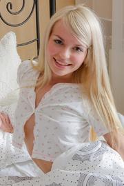 lovely blonde teen girl