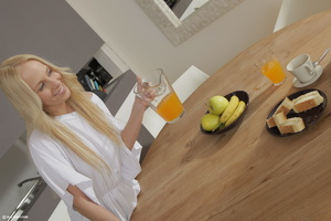 Teen lesbian action in the kitchen Two e - XXX Dessert - Picture 9
