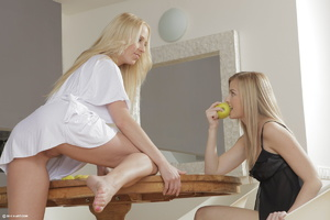 Teen lesbian action in the kitchen Two e - XXX Dessert - Picture 10