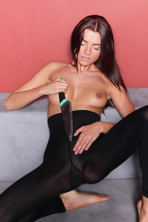 Young erotic brunette passionately playi - XXX Dessert - Picture 7