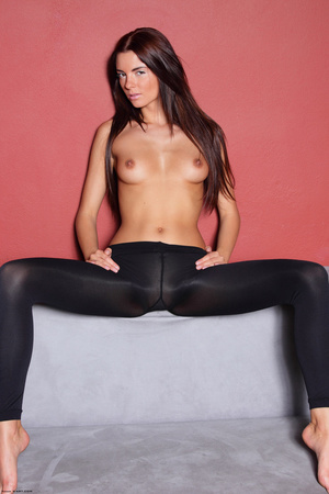 Young erotic brunette passionately playi - XXX Dessert - Picture 9