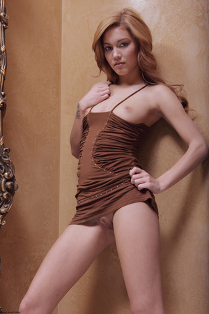 Redhead erotic nymph slowly stipping off - XXX Dessert - Picture 2