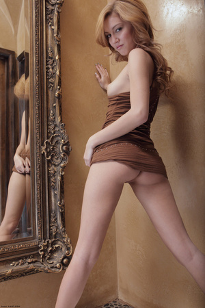 Redhead erotic nymph slowly stipping off - XXX Dessert - Picture 4