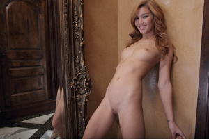 Redhead erotic nymph slowly stipping off - XXX Dessert - Picture 7