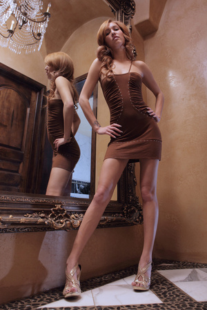 Redhead erotic nymph slowly stipping off - XXX Dessert - Picture 12