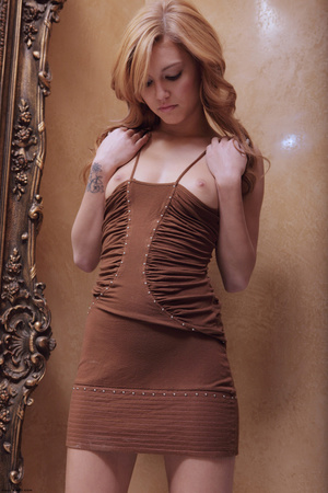 Redhead erotic nymph slowly stipping off - XXX Dessert - Picture 14