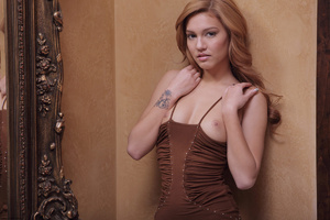 Redhead erotic nymph slowly stipping off - XXX Dessert - Picture 17