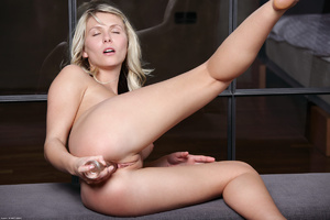 Blonde gal in striped lingerie pounding  - XXX Dessert - Picture 3