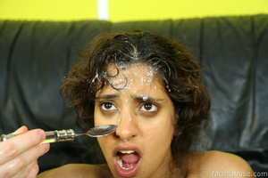 Brown skinned skank face fucked and jizz - XXX Dessert - Picture 15
