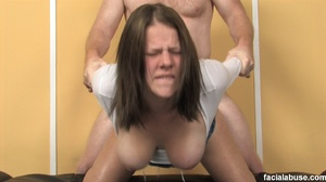 Spunked face brunette gagged in pain - XXX Dessert - Picture 14