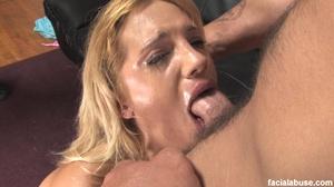 Blonde slut face fucked with makeup smea - XXX Dessert - Picture 6