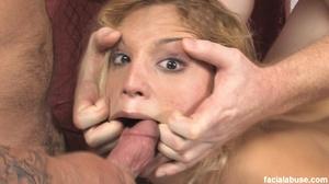 Blonde slut face fucked with makeup smea - XXX Dessert - Picture 13