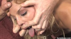 Blonde slut face fucked with makeup smea - XXX Dessert - Picture 14
