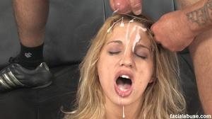 Blonde slut face fucked with makeup smea - XXX Dessert - Picture 15