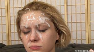 Innocent blonde skank gets facialized - XXX Dessert - Picture 15