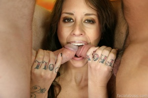 Pillaging her holes and creaming her fac - XXX Dessert - Picture 3