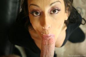 Slobbering slut gets her face cum splatt - XXX Dessert - Picture 2