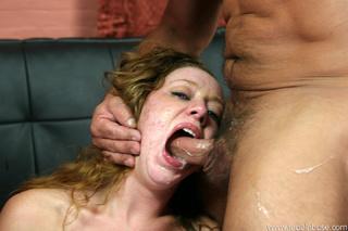 shy slut throat fucked
