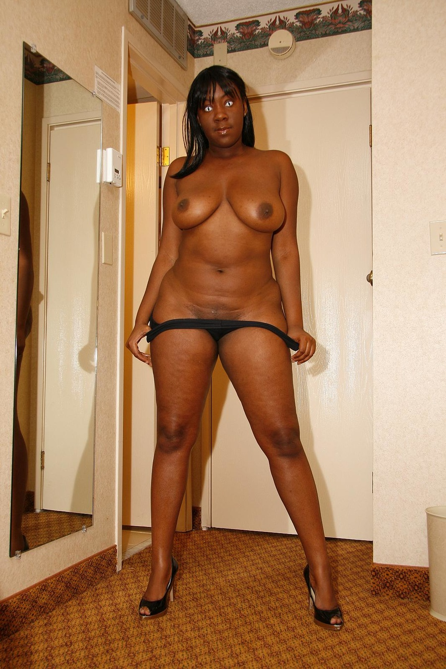 solo Black college nude