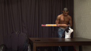 Muscular ebony gay proudly exposing his  - XXX Dessert - Picture 3