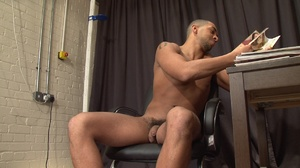 Muscular ebony gay proudly exposing his  - XXX Dessert - Picture 12