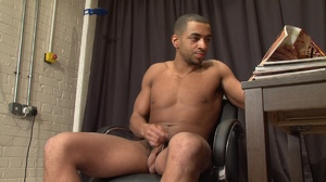 Muscular ebony gay proudly exposing his  - XXX Dessert - Picture 13