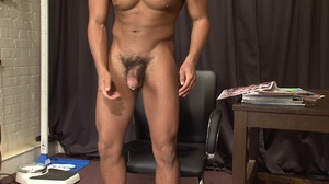 Muscular ebony gay proudly exposing his  - XXX Dessert - Picture 19
