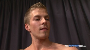 Young and well-hung gay dude sitting nak - XXX Dessert - Picture 13