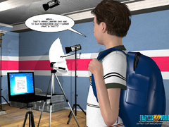 Horny 3d guy can't stand his desire and licking - Picture 2