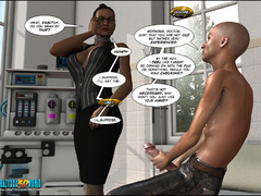 3d nasty bald guy seduced older ebony chick in sexy - Picture 4