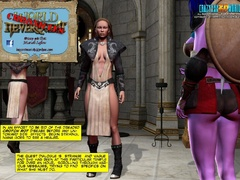 Redhead 3d elf chick with awesome boobs willingly - Picture 1